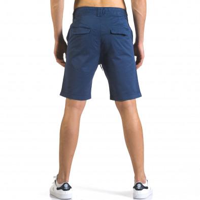 Мъжки сини къси панталони с връзки it110316-39 3