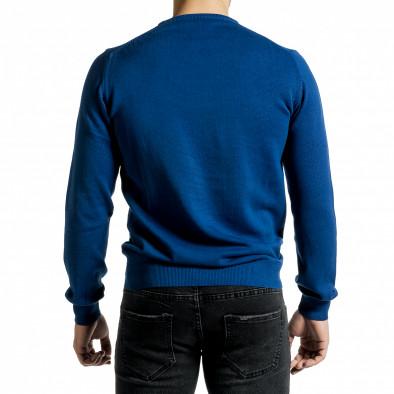 Фин памучен мъжки пуловер яркосин tr231220-1 3
