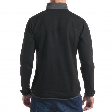 Черен мъжки суичър със сива яка it240816-38 3