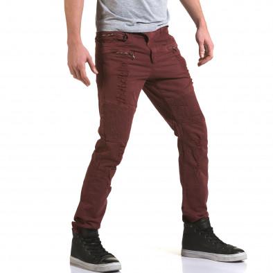 Мъжки червен панталон с хоризонтални шевове Maximal 5