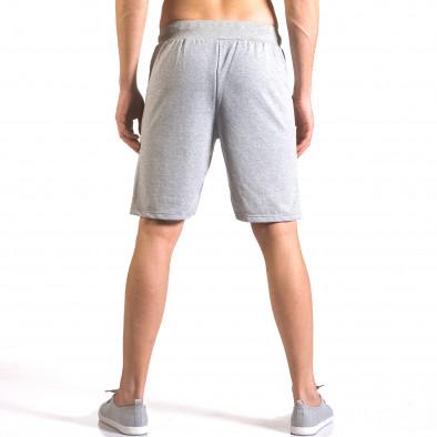 Мъжки сиви шорти за спорт с малък принт Me & You 5