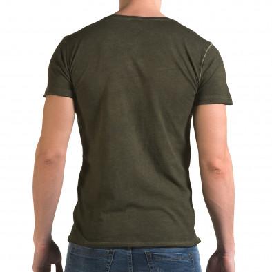 Мъжка зелена тениска с метални капси il120216-3 3