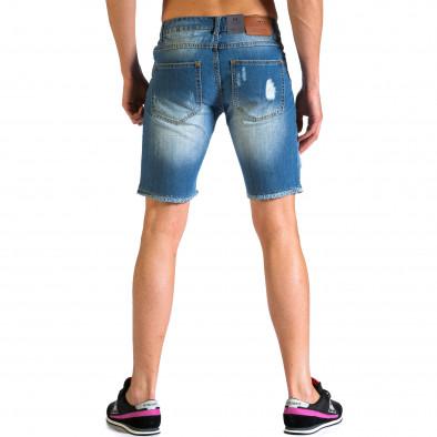 Мъжки къси дънки с големи скъсвания Always Jeans 5