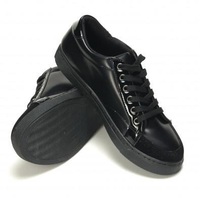 Мъжки черни кецове с велурена част it050816-1 4