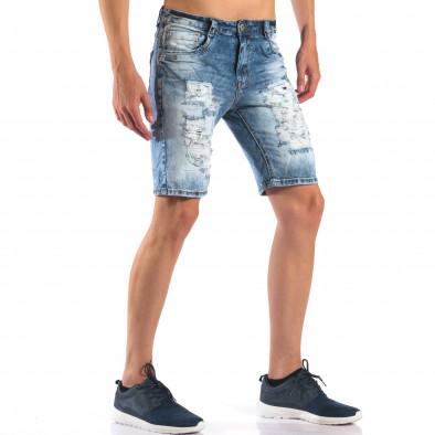 Мъжки къси дънки със скъсвания it160616-16 4