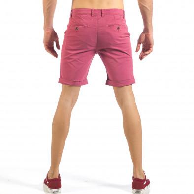 Мъжки розово-червени къси панталони  it260318-140 3