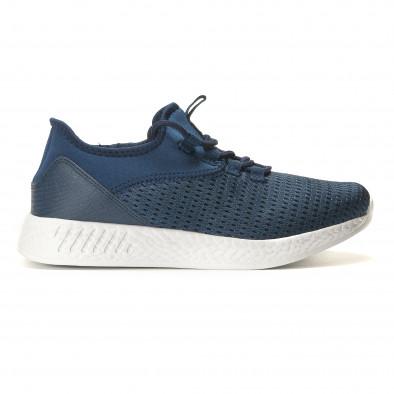 Мъжки сини маратонки от лека материя it110517-7 3