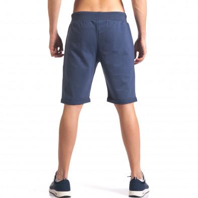 Мъжки сини шорти за спорт с номер it260416-24 3