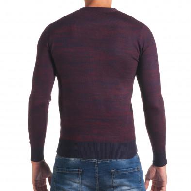 Мъжки лилав пуловер с остро деколте it170816-10 3
