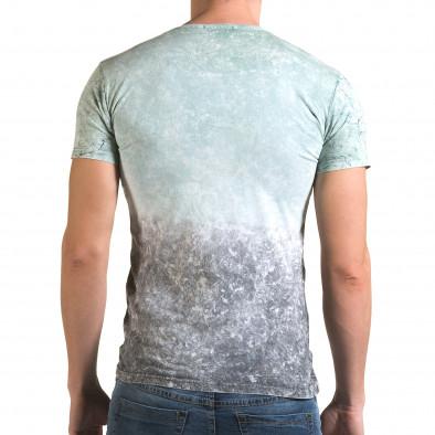 Мъжка зелено-сива тениска 58 Wanted il120216-57 3