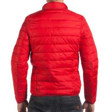 Мъжко червено пролетно-есенно яке със синя подплата it190616-19 3