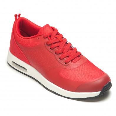 Мъжки червени маратонки с камери Flair 5