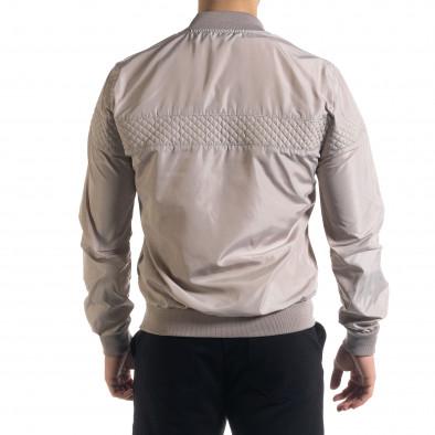 Леко мъжко яке-бомбър в сиво tr110320-102 3