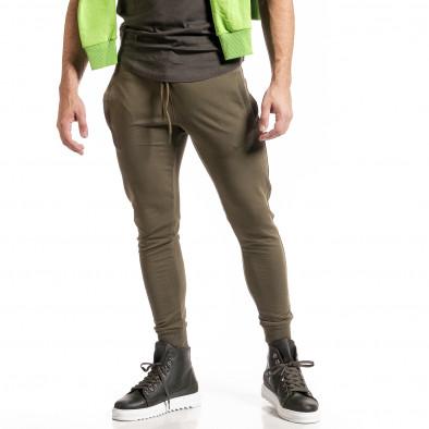 Мъжко зелено долнище от стегнато трико it261120-5 2