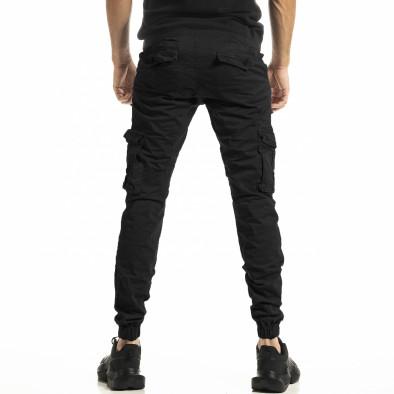 Черен мъжки панталон Cargo Jogger tr161220-22 3