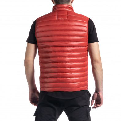 Капитониран мъжки червен елек с лого it270221-60 3