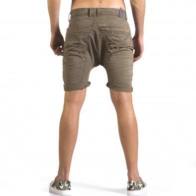 Мъжки зелени къси панталони със смъкнато дъно it110316-33 3