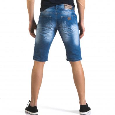 Мъжки къси дънки с големи скъсвания it110316-69 3
