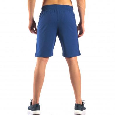 Мъжки сини шорти за спорт изчистен модел it160616-7 3