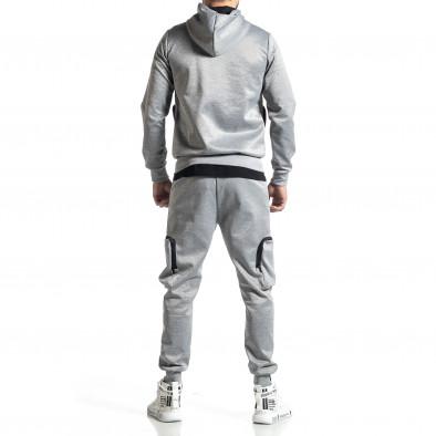 Мъжки сив спортен комплект Cagro style it010221-70 5