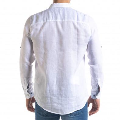 Ленена мъжка риза в бяло tr110320-94 4