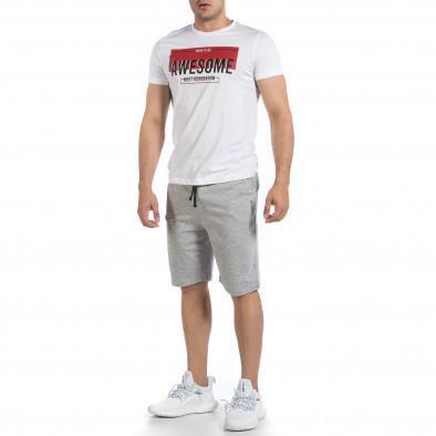 Мъжки комплект Awesome в бяло и сиво it040621-5 3