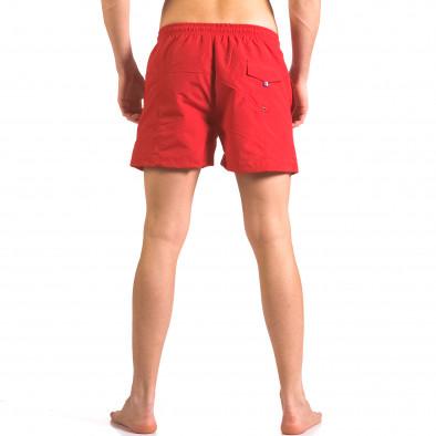 Мъжки червени бански шорти от бързосъхнеща материя ca050416-19 3
