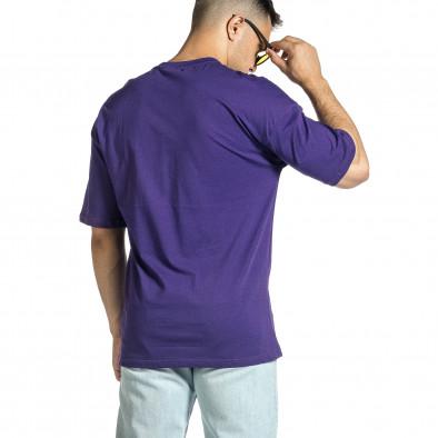 Мъжка лилава тениска Dinosaur Oversize tr150521-2 4