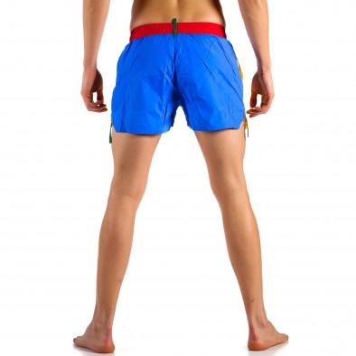 Мъжки жълто-син бански с червен ластик it230415-22 3