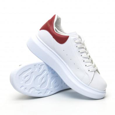 Бели дамски кецове червена пета tr180320-20 4