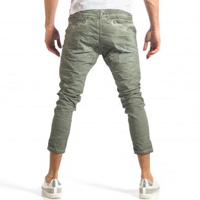 Мъжки зелен лек панталон на малки точици it290118-3 4