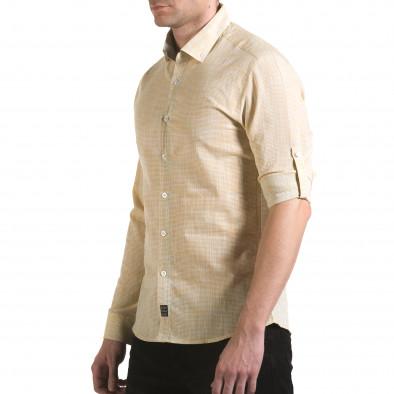 Мъжка жълта риза изчистен модел il170216-121 4