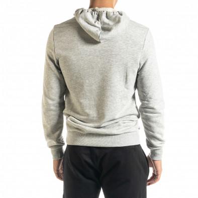 Basic мъжки сив суичър тип анорак tr020920-32 3