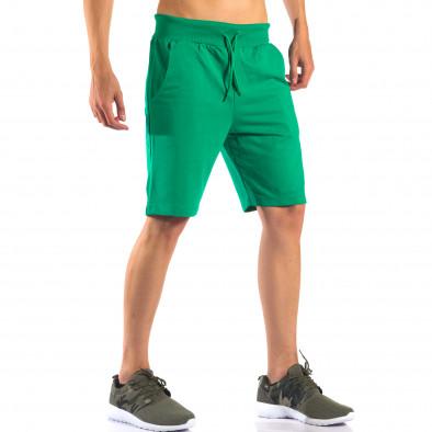 Зелени мъжки шорти за спорт изчистен модел it160616-5 4