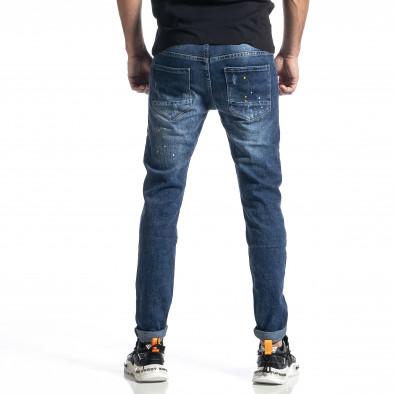 Мъжки сини дънки Destroyed Paint Slim fit it010221-40 3