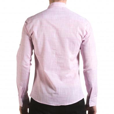 Мъжка розова риза изчистен модел il170216-124 3