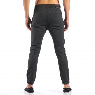 Мъжки тъмно сив панталон с еластични маншети на крачолите it160616-27 3