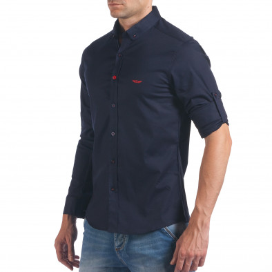 Мъжка синя риза класически модел il060616-112 4