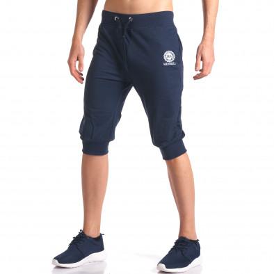 Мъжки сини къси потури със странични джобове it250416-12 4