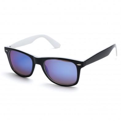 Мъжки бели слънчеви очила със сини огледални стъкла Bright 3
