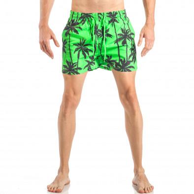 Мъжки зелен бански на палми it040518-99 2