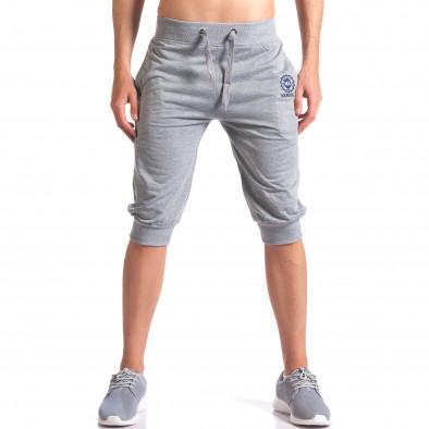 Мъжки сиви къси потури със странични джобове it250416-14 2