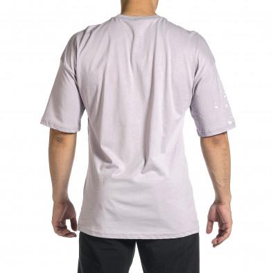 Мъжка лилава тениска с принт Oversize tr150521-11 4
