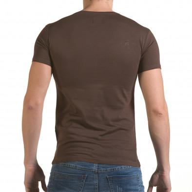 Мъжка кафява тениска с римски номер VII il170216-85 3