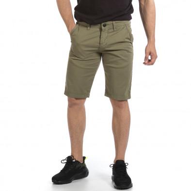 Мъжки зелени къси панталони & Big Size tr040621-27 2