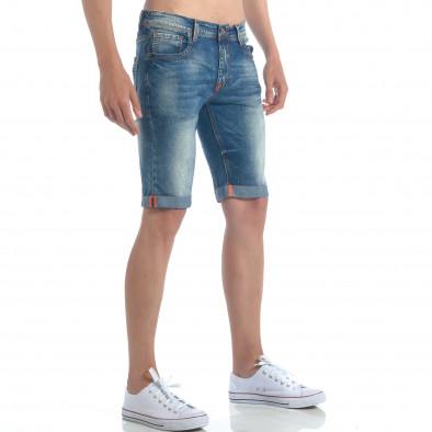 Мъжки къси дънки с навиване на крачолите it050617-31 4