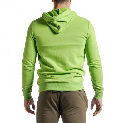 Basic мъжки суичър-анорак неоново зелен tr231220-9 3