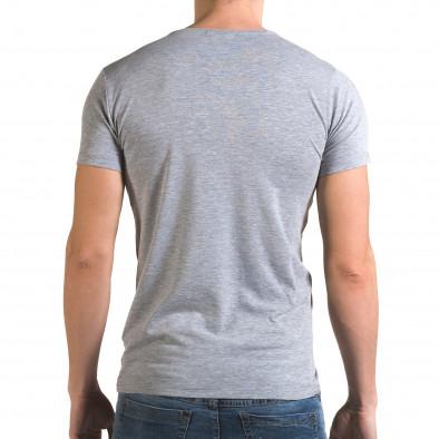 Мъжка сива тениска с Американското знаме Lagos 4