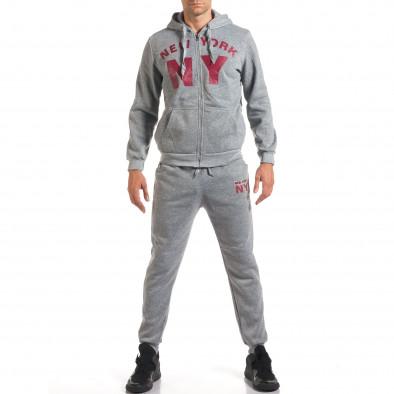 Мъжки сив спортен комплект NY it160916-62 2