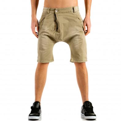 Мъжки бежови къси панталони тип потури ca300315-30 2